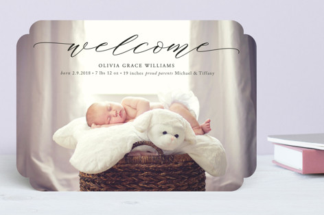 Elegant Name Birth Announcements