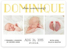 Sweet Squares Birth Announcements