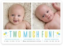 Two Much Fun Birth Announcements