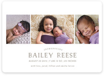 Blissful Birth Announcements