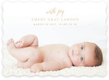 With Joy Birth Announcements