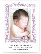 Foliage Frame Birth Announcements
