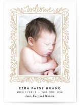 Foliage Frame Birth Announcements