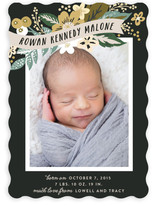 Floral Banner Birth Announcements