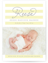 Simple Stripe Birth Announcements