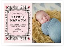 Acorn Frame Birth Announcements