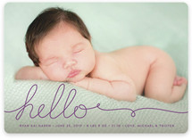 A Handwritten Hello Birth Announcements