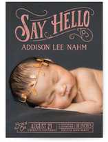 Say Hello To Birth Announcements