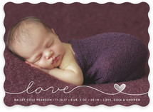Scripted Love Birth Announcements