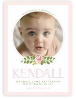 Floral Bough Birth Announcements