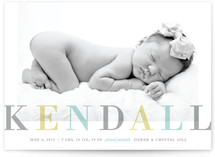 Family Name Birth Announcements