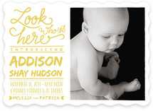 Look Who Is Here Birth Announcements