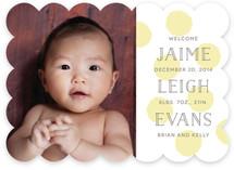 Fingerpaints Birth Announcements