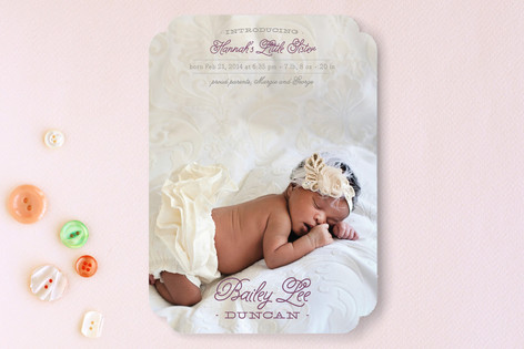 Little Sibling Birth Announcements