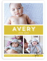 Signature Baby Birth Announcements