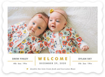 Double the Love Birth Announcements