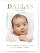 Elegant Scrapbook Birth Announcements