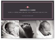 Preppy Button Birth Announcements