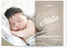 Heirloom Scroll Birth Announcements