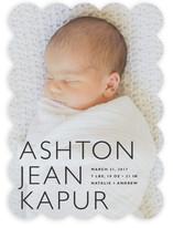 Baby Mine Modern Birth Announcements