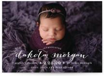 chic baby Birth Announcements