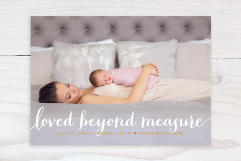 Numbers Game Birth Announcements