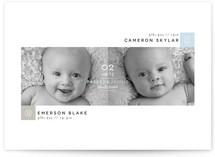 Blocks Twin Birth Announcements