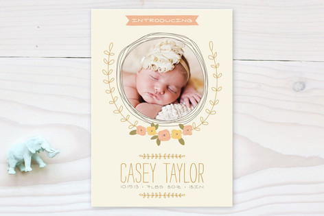 A Bit of Whimsy Birth Announcements