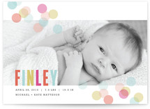 Confetti Birth Announcements