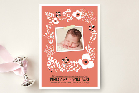 Amelia Floral Birth Announcements