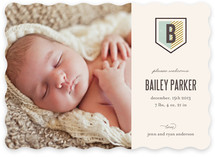 Striped Crest Birth Announcements