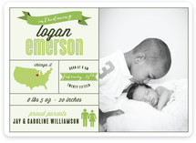 Introduced by Infographic Birth Announcements