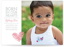 Born in Our Hearts Birth Announcements