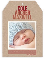 Ombre Kraft Birth Announcements