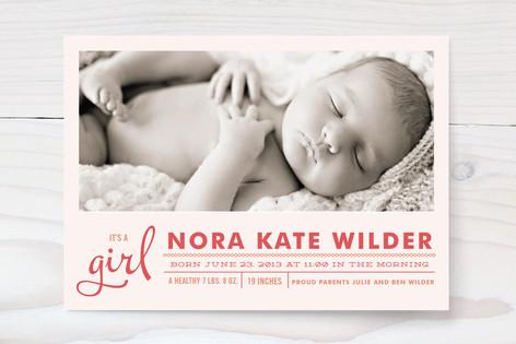 Little Hello Birth Announcements