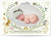 Woodland Awakening Birth Announcements