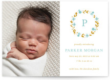 Delicate Blooms Birth Announcements
