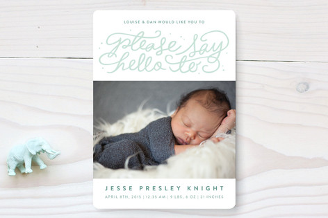Say Hello Birth Announcements
