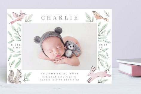 Woodland Frame Birth Announcements