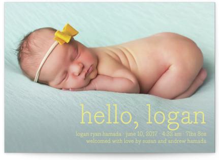 Hello Baby Birth Announcements
