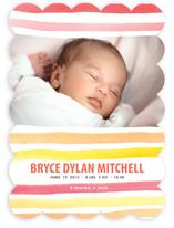 watercolor stripes Birth Announcements