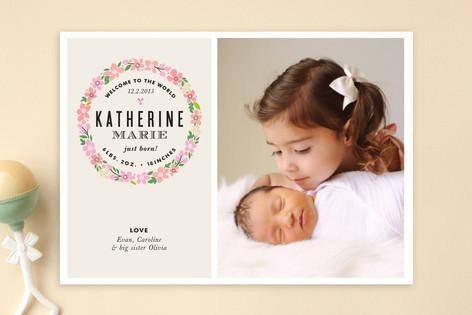 Sweet Wreath Birth Announcements