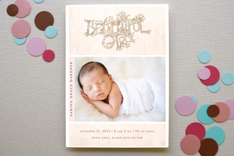 Beautiful Girl Birth Announcements