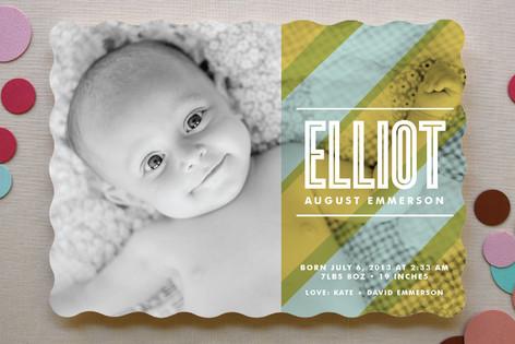 Beach Blanket Birth Announcements