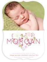 Floral Heart Birth Announcements