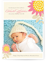 Sunny Sunflowers Birth Announcements