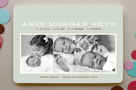 Bold 'n Beautiful Birth Announcements