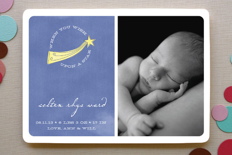 Shooting Star Birth Announcements