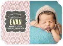 Vintage Paper Birth Announcements
