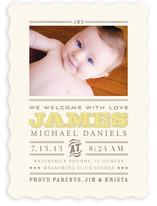 Wild West Baby Birth Announcements